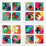 Flat design geometric info banners, web boxes Royalty Free Stock Photo
