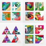 Flat design geometric info banners, web boxes Stock Image