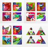 Flat design geometric info banners, web boxes Stock Image