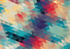 Flat design geometric  retro colorful background Stock Image