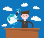 Flat design, global business concept  illustration Royalty Free Stock Images