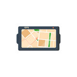 Flat design gps device Stock Photos