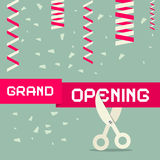 Flat Design Grand Opening Vector Illustration Royalty Free Stock Images