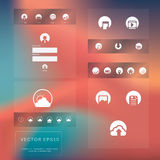 Flat design graphic user interface Royalty Free Stock Images