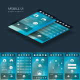 Flat design graphic user interface concept with Royalty Free Stock Image
