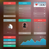 Flat design graphic user interface concept Royalty Free Stock Image