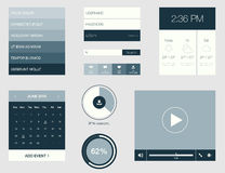Flat design graphic user interface concept Royalty Free Stock Images