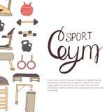 Flat design of gym items set illustration Stock Photo