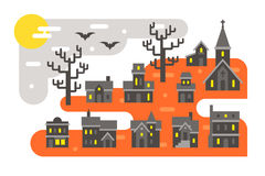 Flat design Halloween infographic elements Stock Photography