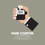 Flat Design Hand Counter vector illustration