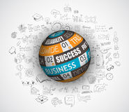 Flat design and hand drawn concepts for business success Stock Image
