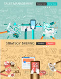 Flat design and hand drawn concepts for business success Stock Photography