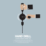 Flat Design Hand Drill. Stock Images