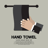 Flat Design Hand Towel Royalty Free Stock Photo