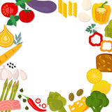 Flat design healthy eating vector concept Stock Image