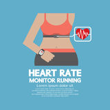 Flat Design Heart Rate Monitor Running Royalty Free Stock Photography