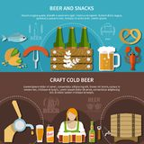 Beer Banner Set Royalty Free Stock Photos