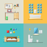 Flat design of house interior Royalty Free Stock Photography
