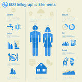 Flat design human issues ecological infographics Stock Image