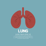 Flat Design Human Lungs On Blue Background Royalty Free Stock Images