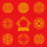 Flat design icon of Chinese art for Chinese New Year Royalty Free Stock Image