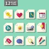 Flat design icon set Stock Image