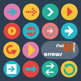 Flat design icon set - Arrows Stock Images