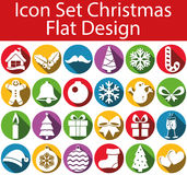 Flat Design Icon Set Christmas. With 24 icons for the creative use in web an graphic design Stock Photo