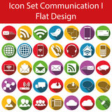 Flat Design Icon Set Communication I Stock Images