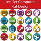 Flat Design Icon Set Computer I Royalty Free Stock Photo