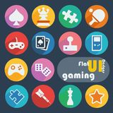 Flat design icon set - Gaming Royalty Free Stock Photo
