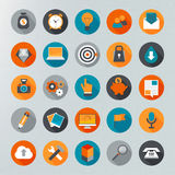 Flat design icon set Stock Images