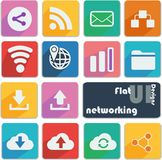 Flat design icon set - Networking Stock Images