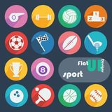 Flat design icon set - Sport Stock Photography