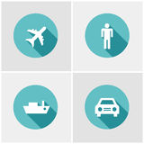 Flat design icon set Royalty Free Stock Photography
