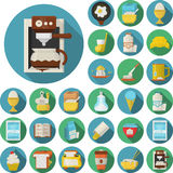 Flat design icons for breakfast Royalty Free Stock Image