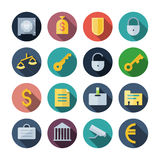 Flat Design Icons For Business stock illustration