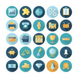 Flat design icons for business and finance. Vector eps10 with transparency Royalty Free Stock Image