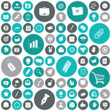 Flat design icons for business and finance stock illustration