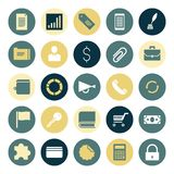 Flat design icons for business Stock Images