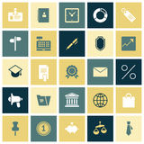 Flat design icons for business Stock Image