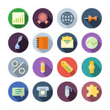 Flat Design Icons For Business Royalty Free Stock Photography