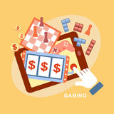 Flat design icons concept of computer games Stock Photo