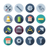 Flat Design Icons For Construction Stock Photos