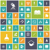Flat design icons for education, science and medical Stock Photo