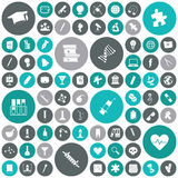 Flat design icons for education and science Royalty Free Stock Photos