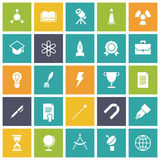 Flat design icons for education and science Stock Photos