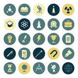 Flat design icons for education and science Stock Images
