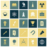 Flat design icons for education and science Stock Photography