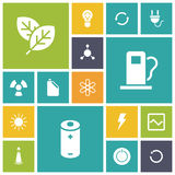 Flat design icons for energy and ecology. Vector illustration vector illustration